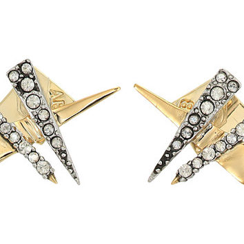 Alexis Bittar Crisscross Shard Post Earrings