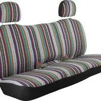 Baja Blanket Bench Style Back Car Seat Cover Stripe