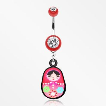 Nesting Doll Belly Button Ring