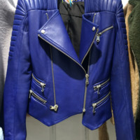 Champs Blue Leather Jacket