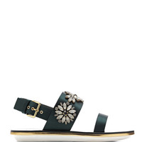 Embellished Satin Sandals by Marni - Moda Operandi