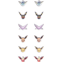 Pokemon Eevee Evolutions Earrings 6 Pair