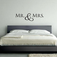 "Wall Vinyl Quote - MR. & MRS. (48""x13"")"