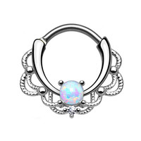 OPAL FERRIE - Starbeauty Royal Septum OPAL Nose Ring 16G Nose Piercing