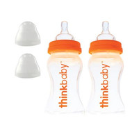 Thinkbaby Baby Bottle With Stage A Nipple (0-6 Months) Twin Pack 9oz