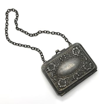 Victorian Silver Plated Coin Purse Etui, Victorian, 1830s to 1900s