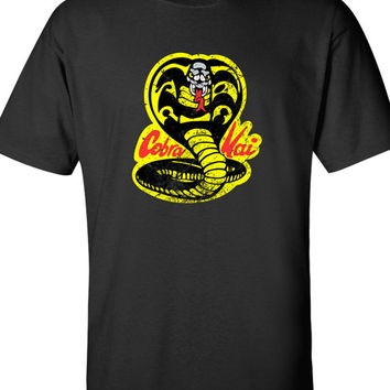 Cobra Kai Dojo Karate T-shirt Gangster Swag Vintage movie inspired T-shirt tee Shirt 70s 80s summer Hot  Mens Ladies cool MLG-1090
