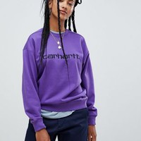 Carhartt WIP Relaxed Sweatshirt With Logo at asos.com