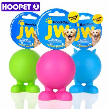 HOOPET Pet Toy JW Angel Sound Toys Rubber Material Resistance To Bite Molars Puzzle Natural Safe Non-Toxic Dog Chew Toy 3Colors