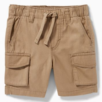Pull-On Canvas Cargo Shorts for Toddler Boys|old-navy
