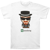 Breaking Bad Men's  Heisenberg Slim Fit T-shirt White Rockabilia