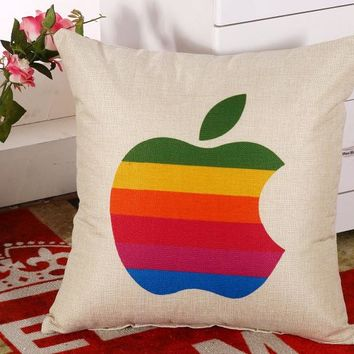 Colorful Bite Of The Apple Pillow Massager Decorative Pillows Vintage Style Of Pleasure Home Decor Modern Culture Design