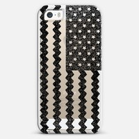 Black Zig Zag Flag iPhone 5s case by Nick Nelson | Casetagram