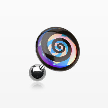 Chroma Flair Hypnotic Swirl Cartilage Earring