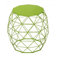 Joveco Triangle Pattern Metal End Table/ Side Table/ Sofa Table/ Coffee Table (Green)
