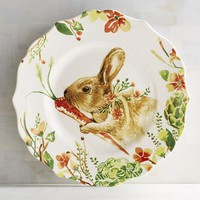 Lilly the Bunny with Carrot Salad Plate