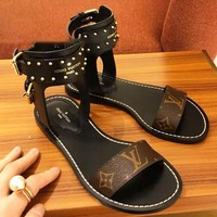 LV Slipper Women Sandals ''Louis Vuitton'' Slippers LV Fashionable casual Shoes B-ALS-XZ