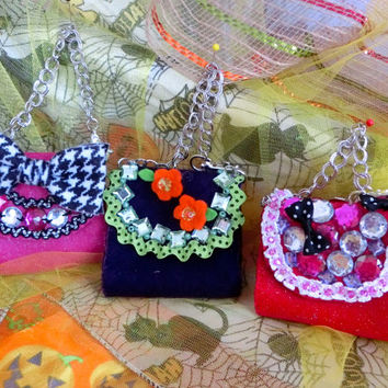 Mini Purse Mini Purse Key Chain Mini Purse Necklace Party Favor Floral Purse Bow Purse Beaded Purse Girls Accessories Birthday Idea