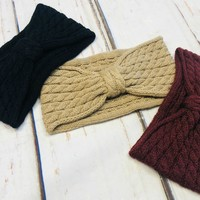 Cozy Bow Headwrap: Multiple Colors