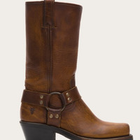 Frye Harness 12R Cognac Leather Boots