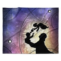 "Mandie Manzano ""Father's Day"" Star Wars Fleece Throw Blanket"