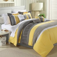 Space Living Euphoria 8-Piece Yellow Comforter Set Comforter Sets