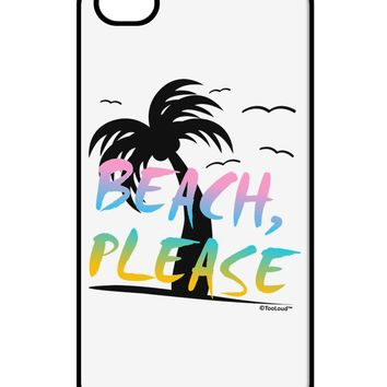 Beach Please - Summer Colors with Palm Trees iPhone 4 / 4S Case  by TooLoud