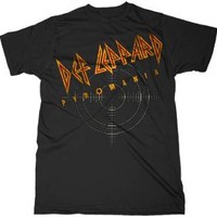 "New! Def Leppard ""On Target Pyromania"" Classic Rock Band Licensed Adult T-Shirt"