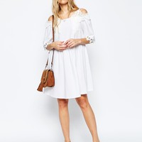 ASOS Premium Embroidered Off Shoulder Sundress at asos.com