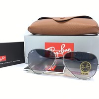 Cheap Ray Ban Aviator RB3025 003/32 Silver Frame Gradient Gray Lens 58mm outlet