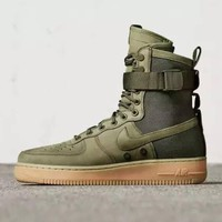 auguau Nike Air Force 1 Af1 High Tops Green For Women Men Running Sport Casual Shoes Sneakers