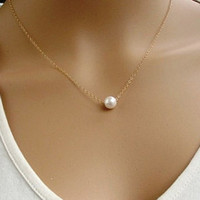 Sweet Faux Pearl Pendant Simple Design Necklace For Women