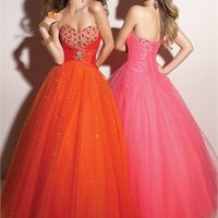 Ball Beaded Sweetheart Neckline Tulle Prom Dresses PDM148 -Shop offer 2012 wedding dresses,prom dresses,party dresses for girls on sale. #Category#