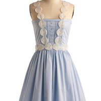 Dreaming of Blue Dress | Mod Retro Vintage Printed Dresses | ModCloth.com