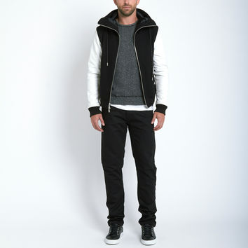 Cut & Tso Ninja Bomber in White/Black