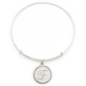 Alex and Ani Precious Initial F Charm Bangle - Argentium Silver
