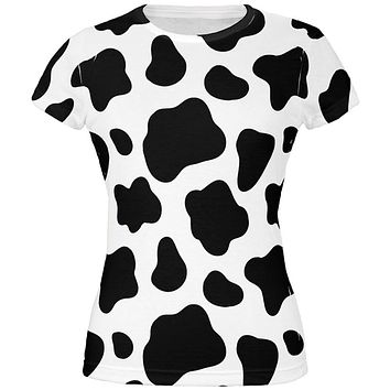 Cow Pattern Costume All Over Juniors T-Shirt