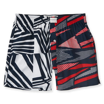 Mixed Print Woven Boxers