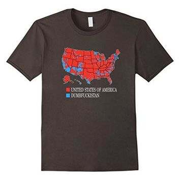 Dumbfuckistan T Shirt United States Of America Map Red & Blu