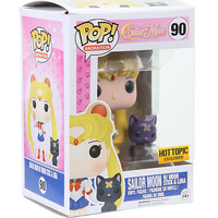 Funko Sailor Moon Pop! Animation Sailor Moon With Moon Stick & Luna Vinyl Figures Hot Topic Exclusive