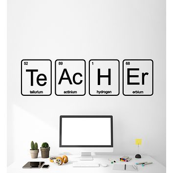 Vinyl Wall Decal Teacher School Chemistry Laboratory Science Class Stickers Mural (g1099)