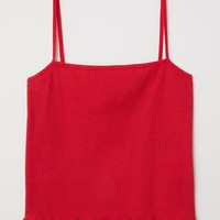 Short Camisole Top - Red - Ladies | H&M US