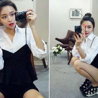Classic Flap Pocket Blouse - I know you wanna kiss me. Thank you for visiting CHUU.
