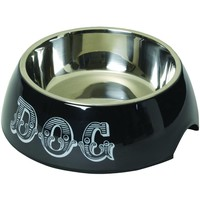 House Of Paws Country Kitchen Dog Bowl (l; Black)