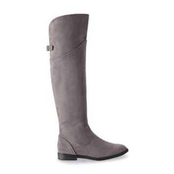 Women's Addison Over the Knee Riding Boot - Grey