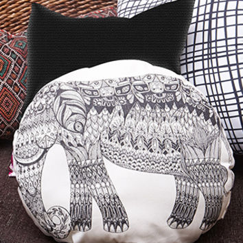 Rise And Fall Elephant Pillow