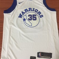 Golden State Warriors #35 Kevin Durant White Retro Basketball Jersey