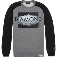 Diamond Supply Co On The Table Raglan Crew Fleece - Mens Hoodie - Grey