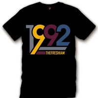The Fresh I Am Clothing 1992 Bordeaux 7's Tee