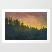 The Blurring of Trees Art Print by Tordis Kayma